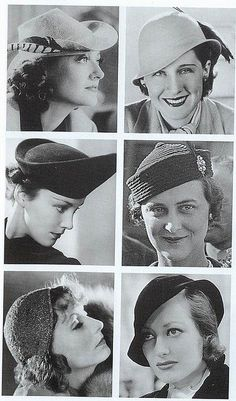 Hats, 1930s by Gatochy, via Flickr