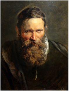 Portrait of a Bearded Man , 1612 Peter Paul Rubens Oil Peter Paul Rubens, Rembrandt, Caravaggio, Pedro Pablo Rubens, Rubens Paintings, Master Studies, Fantasy Portraits, Dutch Painters, Oil Painters