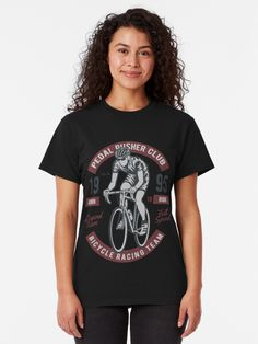 'Bicycle Racing Team' Classic T-Shirt von Lordstilgar Lord, Skull Design, Racing Team, Designer Backpacks, Team S, Things To Think About, Classic T Shirts, How To Make, How To Wear