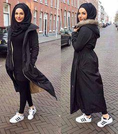Classy Winter Coat Looks With Hijab Islamic Fashion, Muslim Fashion, Modest Fashion, Hijab Fashion, Fashion Outfits, Fashion Muslimah, Fashion Beauty, Muslim Girls, Muslim Women