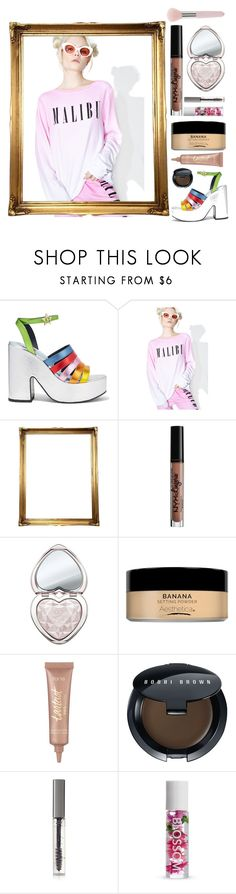 """Daily obsession: matching sweat pants and sweater sets"" by jasmine-asher ❤ liked on Polyvore featuring MR by Man Repeller, Wildfox, NYX, Too Faced Cosmetics, tarte, Bobbi Brown Cosmetics, BBrowBar and Forever 21"