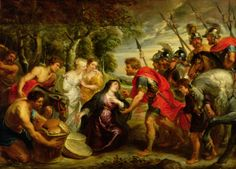 The meeting of David and Abigail, by Peter Paul Rubens