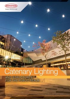 Catenary Lighting in Ithaca Commons by Ronstan - We recently completed a catenary lighting supply job for the Ithaca Commons in Ithaca New York. Beautiful Architecture, Landscape Architecture, Landscape Design, Architectural Engineering, Key Design, Urban Design, Public Realm, L And Light, Landscaping