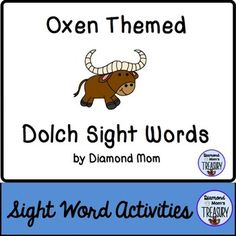 This set includes all 220 Dolch words and is in both color and black and white. It was inspired by the Chinese New Year zodiac. It can be played anytime.Oxen Sight Word Memory GameThe game is played as a typical memory game. You will need to make 2 copies of each sheet in order to do the matching.Oxen Sight Word Flash CardsUsing the same templates, practice the sight words in pairs or in sets.