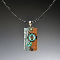 polymer clay pendant by Meisha Barbee