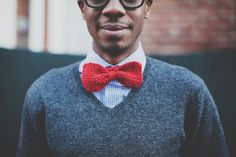 crochet bow tie haha! and other men's knit things for gifts