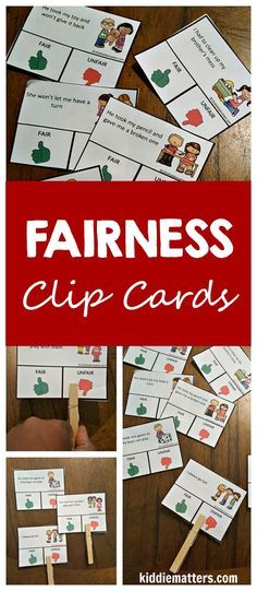 Tired of hearing 'that's not fair! Then you need this fairness character education activity pack. Kids learn about how to treat others fairly through games, discussions, and fun activities. Perfect school counseling activity for individual or whole c Social Skills Activities, Counseling Activities, Kindergarten Activities, Educational Activities, Preschool Activities, Character Education Lessons, Education Jobs, Health Education, Physical Education