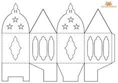 chinese lantern template printables - diwali paper lantern template craft ideas