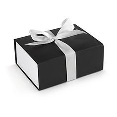 Gift box with ribbon fastening