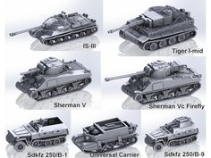 1:100 Tanks by m_bergman - Thingiverse