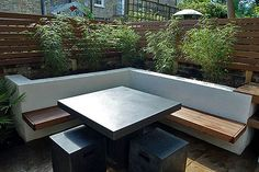 Urban-Garden-Design-Josh-Ward – Home decoration ideas and garde ideas Garden Seating, Outdoor Seating, Outdoor Spaces, Outdoor Living, Outdoor Decor, Urban Garden Design, Small Garden Design, Terrazas Chill Out, Traditional Landscape