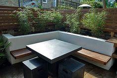 patio seating wall