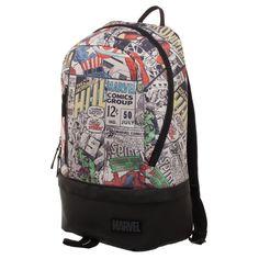 62c7ee15ed Marvel Comic Backpack With Bottom Zip Pocket