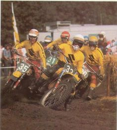 Suzuki's best days in motocross so far might still be the early seventies, when men like Joel Robert (33), Gaston Rahier (35) and Sylvain Geboers (30) joined Roger DeCoster and Gerrit Wolsink in leading the way.