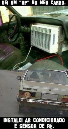 Carro com ar condicionado e sensor de ré