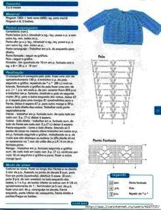 Casaco de croche com grafico