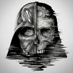 paul jackson - between life and death - darth vader - illustration