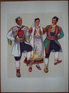 Montenegrin national costumes-having a good time!  Opa!  Napred!