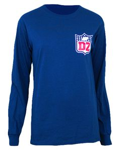 Delta Zeta NFL Longsleeve by Adam Block Design | Custom Greek Apparel & Sorority Clothes | www.adamblockdesign.com