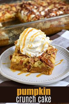 Sweet and Salty, you'll love this Pumpkin Crunch Cake recipe. With layers of pumpkin pie, yellow cake mix, and pecans, this pumpkin dump cake is a tried and true crowd pleaser! pie bars with cake mix Sweet and Salty Pumpkin Crunch Cake Recipe (dump cake) Pumpkin Crunch Cake, Pumpkin Cheesecake, Raspberry Cheesecake, Oreo Cheesecake, Pumpkin Dessert Recipes With Cake Mix, Cheesecake Recipes, Fresh Pumpkin Recipes, Chocolate Pumpkin Cake, Shugary Sweets