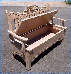 Santa Fe Style Painted Furniture Sunburst Bench