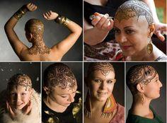 Henna Tatoos for women who have lost their hair due to cancer treatments. Beautiful :o)  http://www.debihamuka-falkenham.com