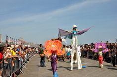 stilts   Flickr - Photo Sharing! Mermaid Parade, Coney Island, Outdoor Decor