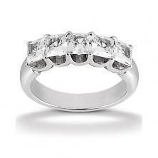 14k White Gold Womens Diamond Anniversary Or Wedding Band Containing 2.25 Carats Of Diamonds In Hi Color And Si1-si2 Clarity