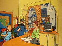even #tintin comes to our #hostel