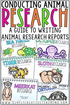 Conduct animal research projects for kids in first grade, 2nd grade, and 3rd grade classrooms. Your student writers will use the template, graphic organizers, outline, and example booklets to understand informative writing. They will learn to write animal paragraphs using research strategies. These ideas and teaching strategies are perfect for elementary research writing.