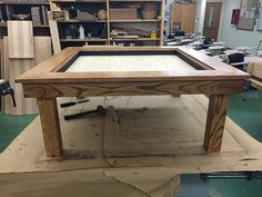 shop class table stuns DIYers around the world — look closer and you'll see why - Bored Daddy Resin Table, Glass Table, Infinity Table, Infinity Mirror, Two Way Mirror, Build A Frame, Shop Class, Building For Kids, Workbench Plans