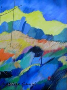 Atelier Ganski - handgemaltes Original, Acrylfarben, 80 x 60 cm Artworks, Painting, Atelier, Abstract, Kunst, Painting Art, Paintings, Painted Canvas, Drawings