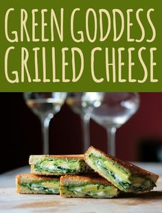 pesto, avocado, mozzarella and goat cheese grilled cheese