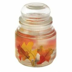 Fall Leaves Fantasia Gel Jar Candle 18 oz.  The smells and scents of Fall!
