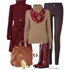 Red Colored Winter Collection For Women
