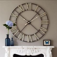 clock over fireplace | Very Large Wall Clocks