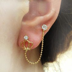 double pierced earring