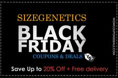 SizeGenetics Black Friday 2015 Coupons & Deals  #SIzegenetics   #SizeGeneticsCoupons   #SizegeneticsCouponCode   #BuySizeGenetics   #SizeGeneticsdiscountCode   #Health   #ED   #SizeGeneticsBlackFriday   #BlackFridayDeals   #BlackFridaySales    http://www.wowcouponsdeals.com/coupons/sizegenetics-black-friday-2015-coupons-deals/