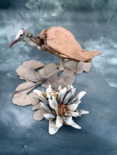 Jacana Lilly Trotter driftwood sculpture by Tony Fredriksson www.openskywoodart.com
