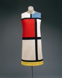 "The Metropolitan Museum Costume Institute houses a collection of more than 35,000 costumes and accessories spanning five continents and just as many centuries. Learn more about the department and view a slideshow of works: http://met.org/1E9pZsZ Yves Saint Laurent (French, born Algeria, 1936) | ""Mondrian"" day dress 