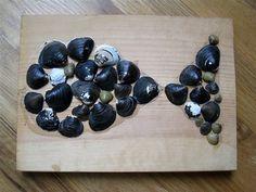 Fisch basteln aus Muscheln