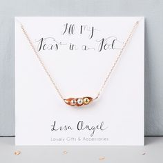 Rose Gold Three Peas in a Pod Necklace at lisaangel.co.uk