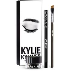 Kylie Cosmetics black eyeliner kit The Kylie cosmetics eyeliner kit comes with a black kohl liner and a gel liner with liner brush to create all of Kylie's looks Kylie Cosmetics Makeup Eyeliner Eyeliner Brush, Black Eyeliner, Pencil Eyeliner, Purple Eyeliner, Bronze Palette, Kylie Cosmetic, Gel Liner, Lip Kit, Makeup For Beginners