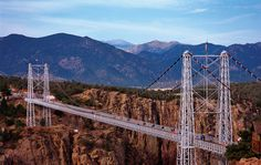 You have to see this to believe it!  A really cool place to visit.  Near Canon City, CO...The Royal Gorge suspension bridge and park.