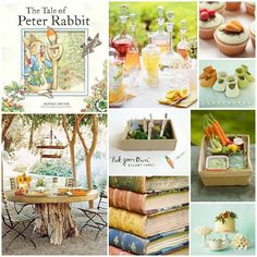OMG I've always wanted to do a Peter Rabbit themed baby shower/garden party.