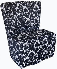 Ambra Armeless Swivel Chair by Bella Furniture Home, solid uphol
