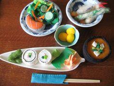 Bento box felt food