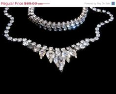 ON SALE Weiss demi-parure Austrian crystal rhinestone bridal necklace and bracelet on Etsy, $73.05 AUD