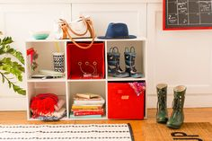 DIY these cubbies to make your rushed mornings to get out the door SO much easier.