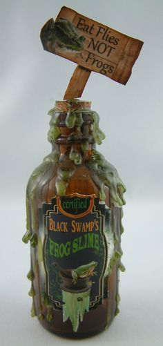 Frog Slime - Join me at Artfully Musing in September 2012 for the Pretty Potions and Poisons Apothecary Event